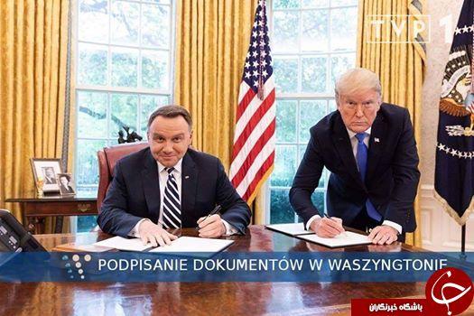 کاربران به تصویر منتشر شده رئیس جمهور لهستان با ترامپ واکنش نشان دادند