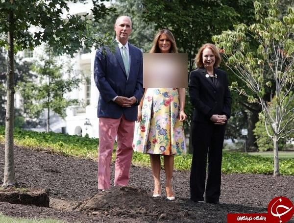 بیل زدن ملانیا ترامپ با لباس گران قیمت سوژه رسانه ها شد + تصاویر