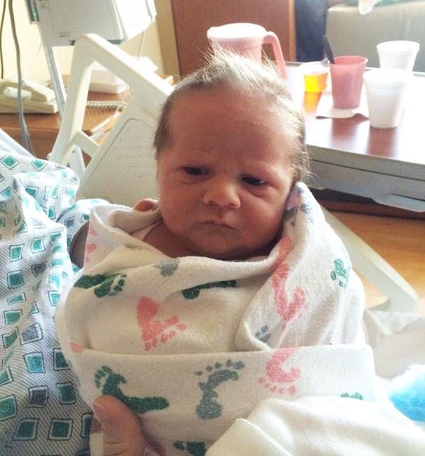 تصاویری از نوزادانی که بابا بزرگ به دنیا آمده اند