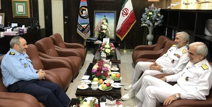 رئیس سازمان صنایع دریایی وزارت دفاع با فرمانده نیروی هوایی دیدار کرد