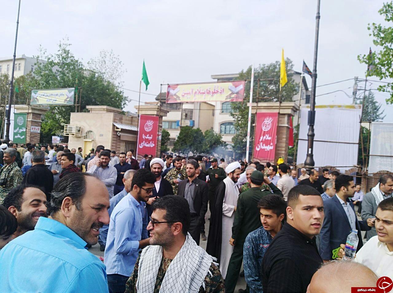 اجتماع با شکوه ۳۰ هزار نفری بسیجیان در مازندران +تصاویر