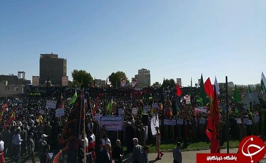 اجتماع با شکوه ۴۰ هزار نفری بسیجیان در آذربایجان غربی