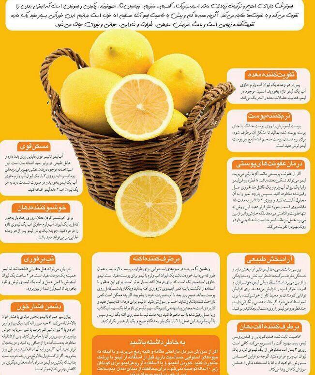 خواص درمانی لیمو ترش + اینفوگرافی