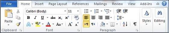 معرفی گزینههای منوی اولیه مایکروسافت ورد (Microsoft Word) +آموزش تصویری