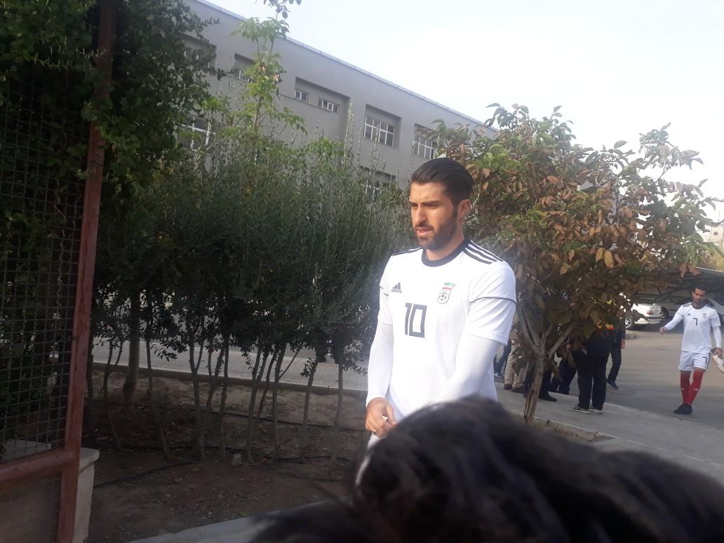 ملی پوشان فوتبال کشورمان پا به توپ شدند