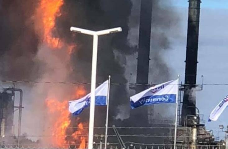 انفجار در یک پالایشگاه نفت در کانادا