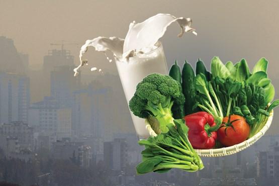 نقش آلودگی هوا و غذا