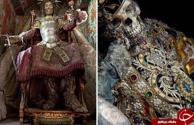 کشف گران بها ترین اسکلت ها در کلیسای رم+تصاویر