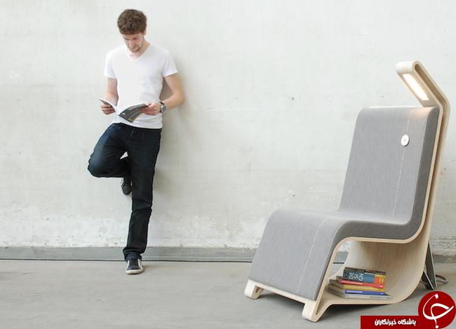 صندلیهایی با قابلیت ذخیره سازی کتابهای مورد علاقه شما + تصاویر