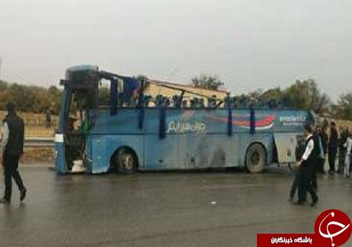 واژگونی اتوبوس دانش آموزان با کشته و زخمی