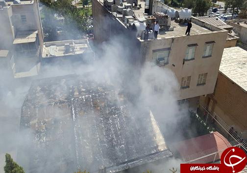 آتش سوزی مغازه لوازم تزئینات در شیراز