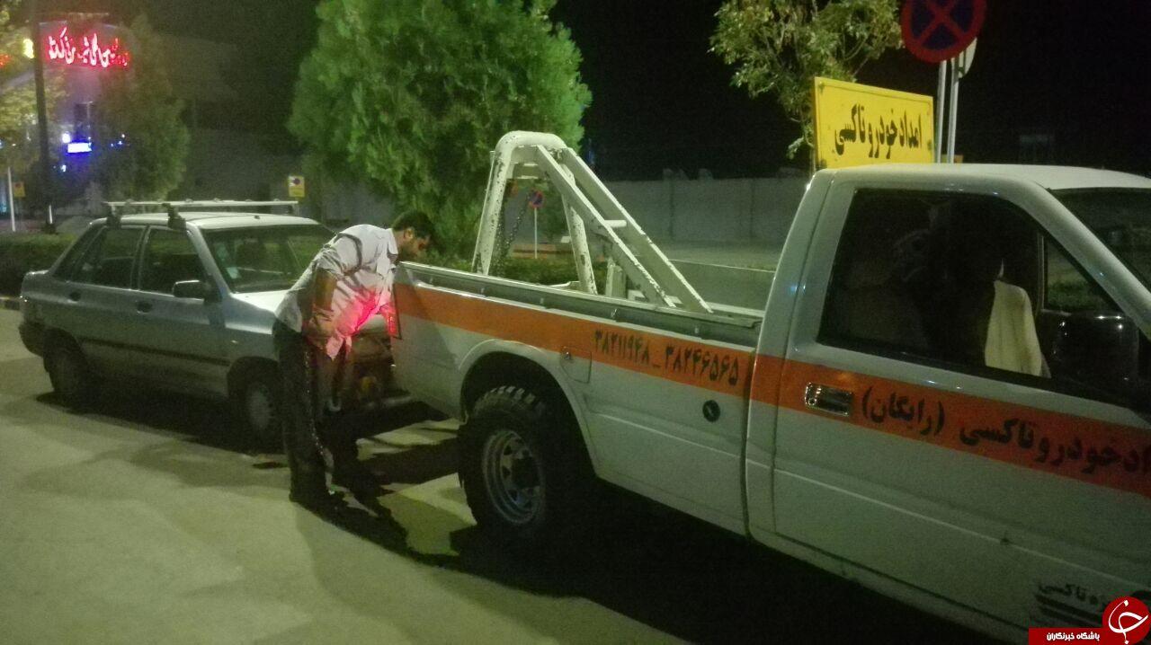 توقیف ده دستگاه مسافر بر شخصی در گشت شبانه تاکسیرانی