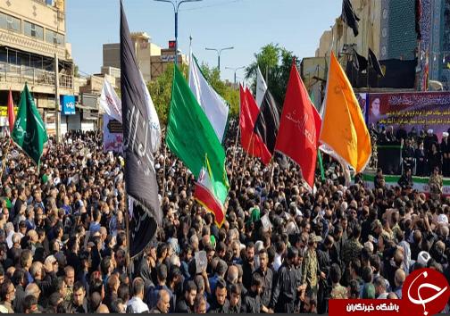 آغاز تشییع پیکرهای پاک شهدای حادثه تروریستی در اهواز + تصاویر