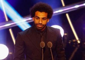 دریافت جایزه بهترین گل سال توسط محمد صلاح +فیلم