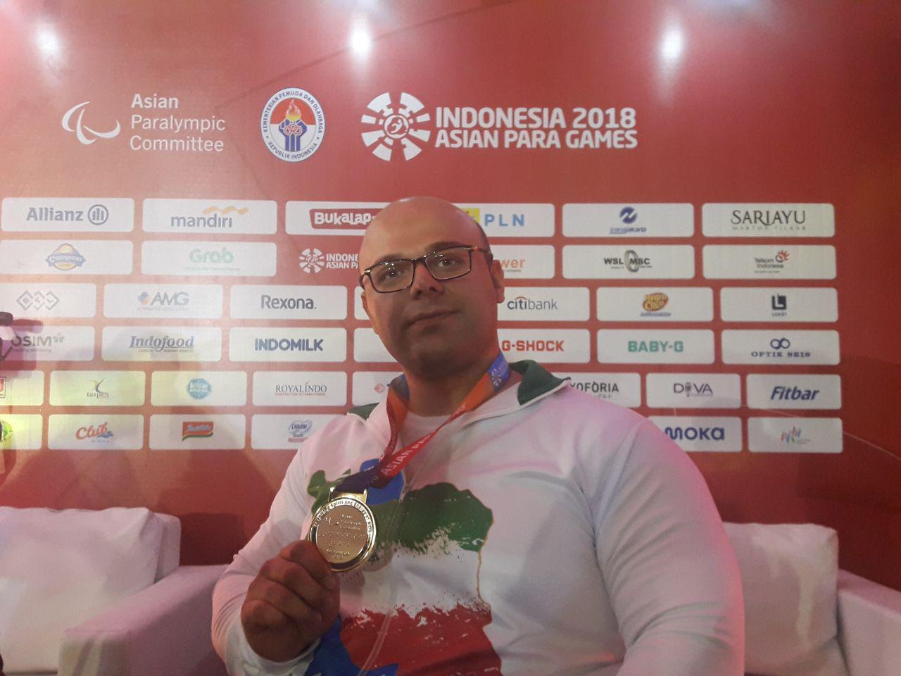 بازیهای پاراآسیایی 2018 جاکارتا؛ صلحیپور: هدفم کسب مدال طلا بود و بعد رکوردشکنی در بازیهای پاراآسیایی
