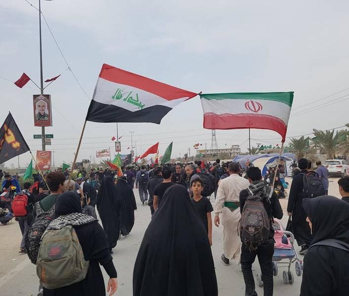 نوحه خوانی عراقیها برای دعوت از ایرانیها در اربعین+فیلم