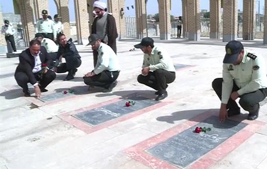مراسم مختلف گرامیداشت هفته نیروی انتظامی در تفرش و کمیجان