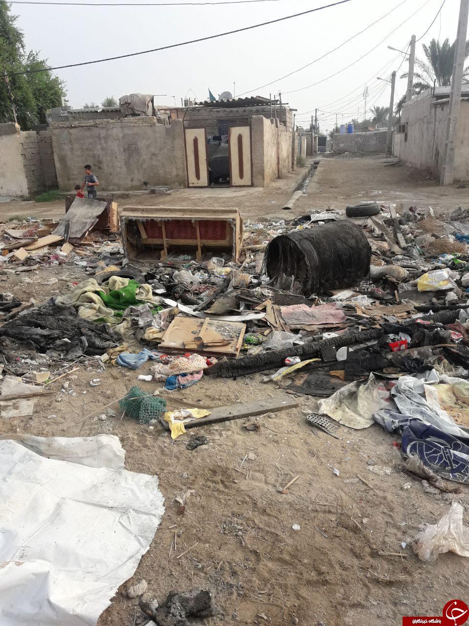 وضعیت نامناسب بهداشت معابر در شهرک شهید صباغان + تصاویر