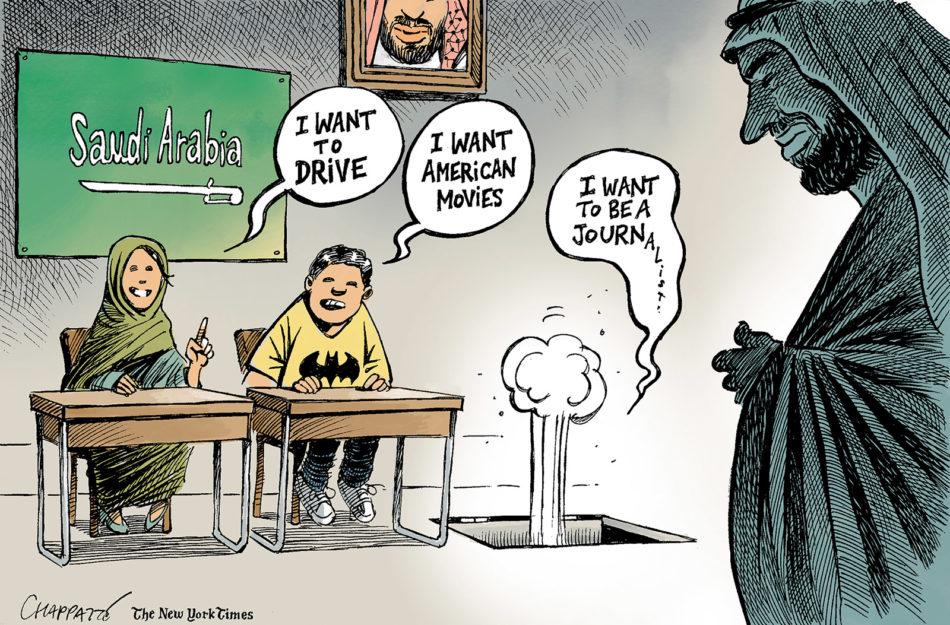 نیویورکتایمز روند اصلاحات شکننده بن سلمان را به سخره گرفت+ کاریکاتور