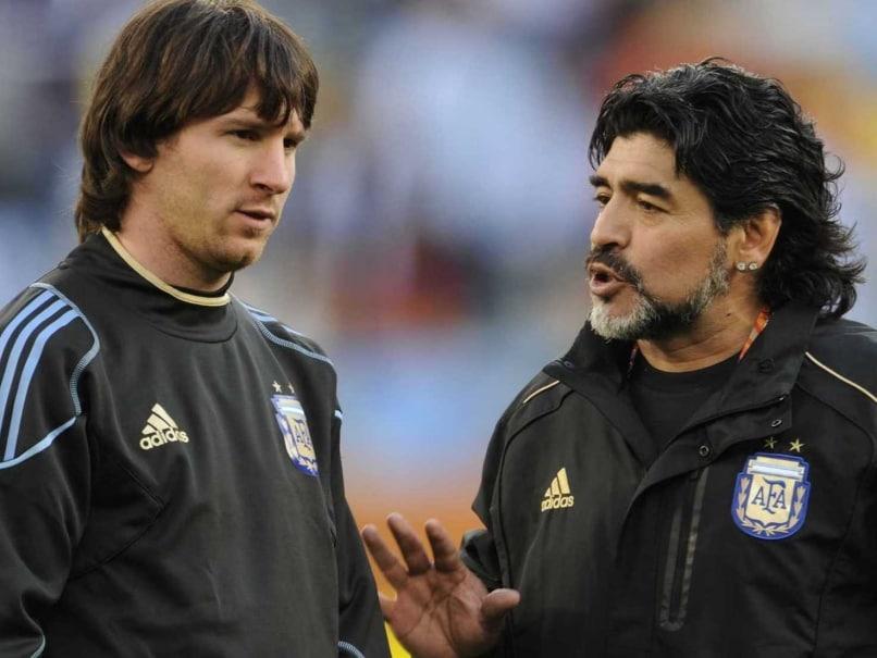 مارادونا: مسی قبل از هر بازی 20 بار به سرویس بهداشتی می رود!