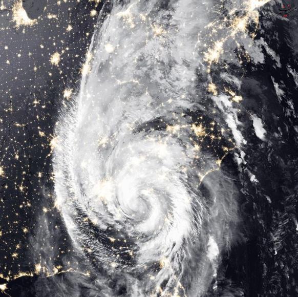 تصویر ماهوارهای از طوفان مایکل