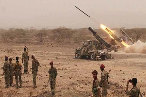 حمله موشکی یمنیها به مواضع مزدوران سعودی در ظهران عربستان