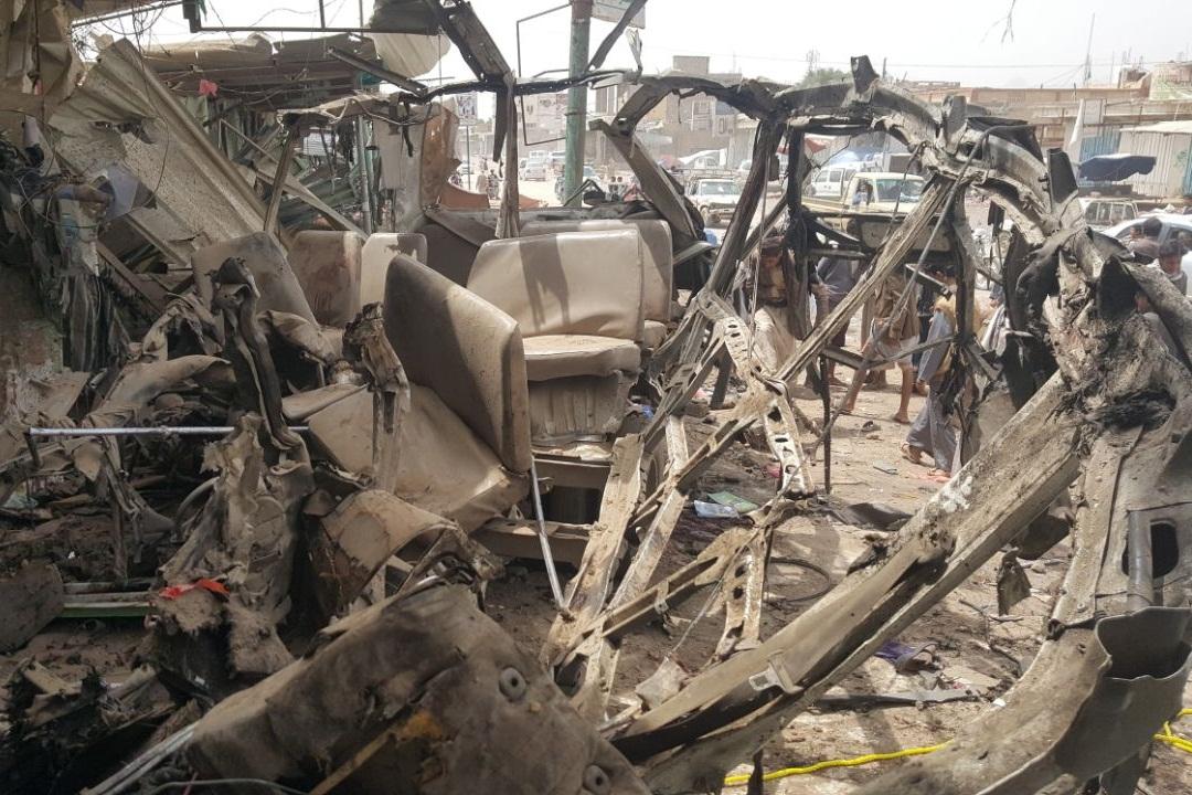 انصارالله حمله متجاوزان به اتوبوسهای آوارگان را محکوم کرد