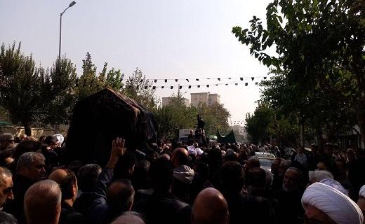 آغاز مراسم تشییع پیکر حجتالاسلام سید ابوالقاسم شجاعی