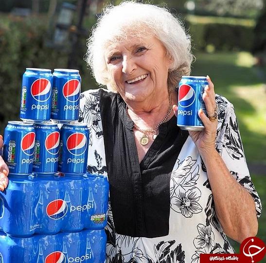 مادربزرگی که روز چهار قوطی نوشابه مینوشد +تصاویر