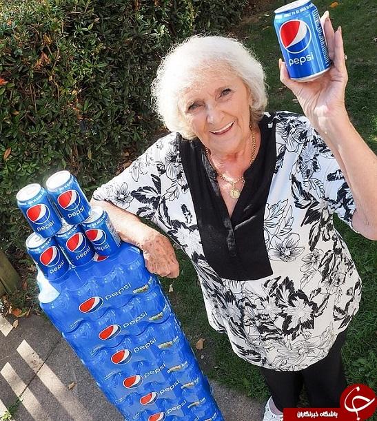 خانمی که 64 سال است روزی چهار قوطی نوشابه مینوشد