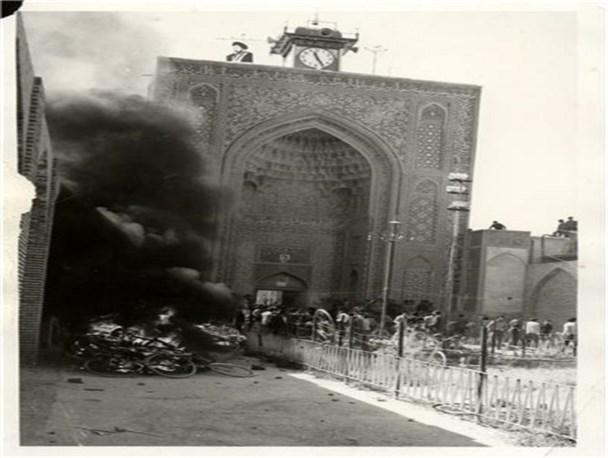 نتیجه تصویری برای فاجعه آتش سوزي مسجد جامع كرمان