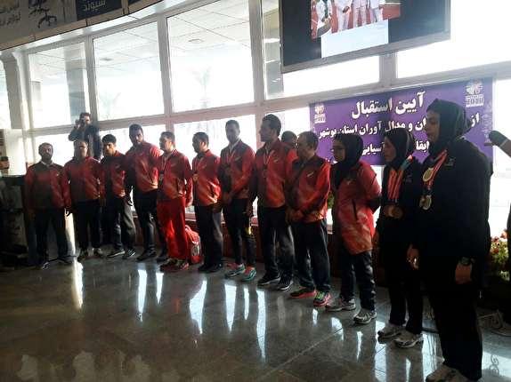 باشگاه خبرنگاران -استقبال از کاروان اعزامی از بوشهر به مسابقات پاراآسیایی