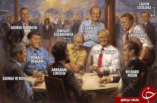 تابلوی نقاشی جدید ترامپ در کاخ سفید جنجال به پا کرد! + تصاویر