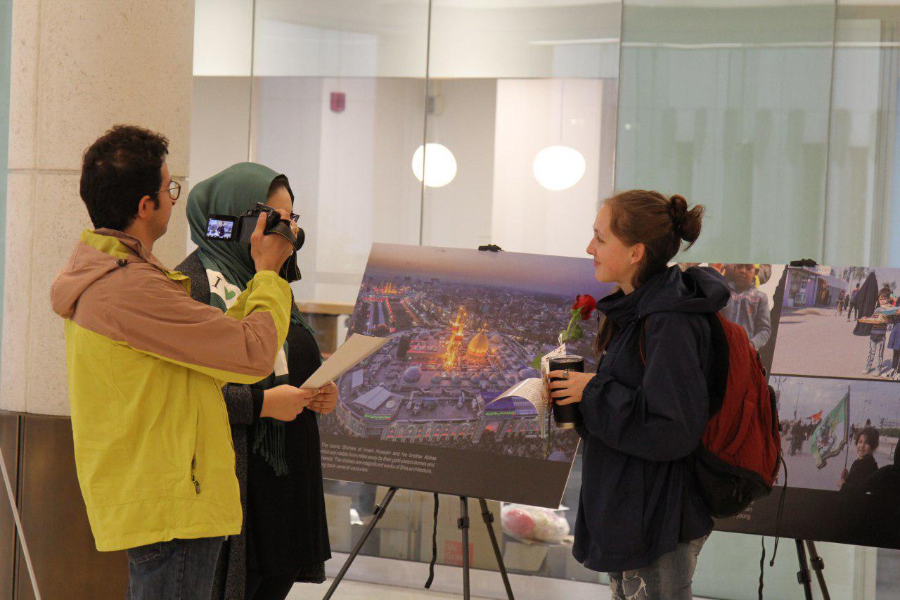 نمایشگاه عکس اربعین در دانشگاه یورک تورنتو+فیلم و عکس