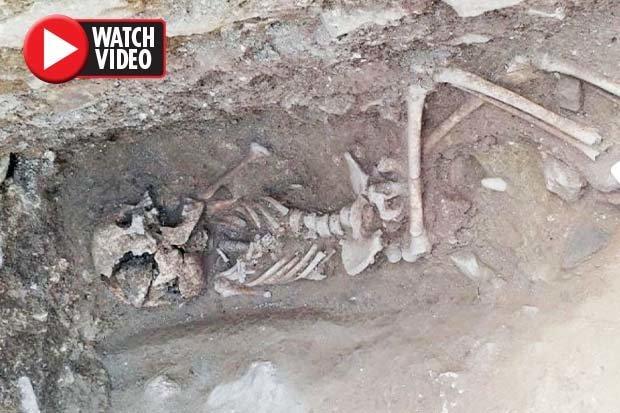 کشف اسکلت بچه خون آشام ۱۵۵۰ ساله در ایتالیا