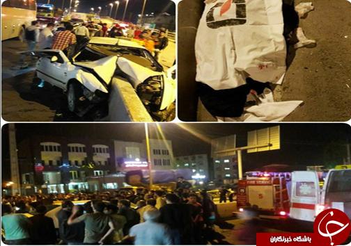 دو کشته و یک مصدوم در سانحه شدید رانندگی در بابل + عکس