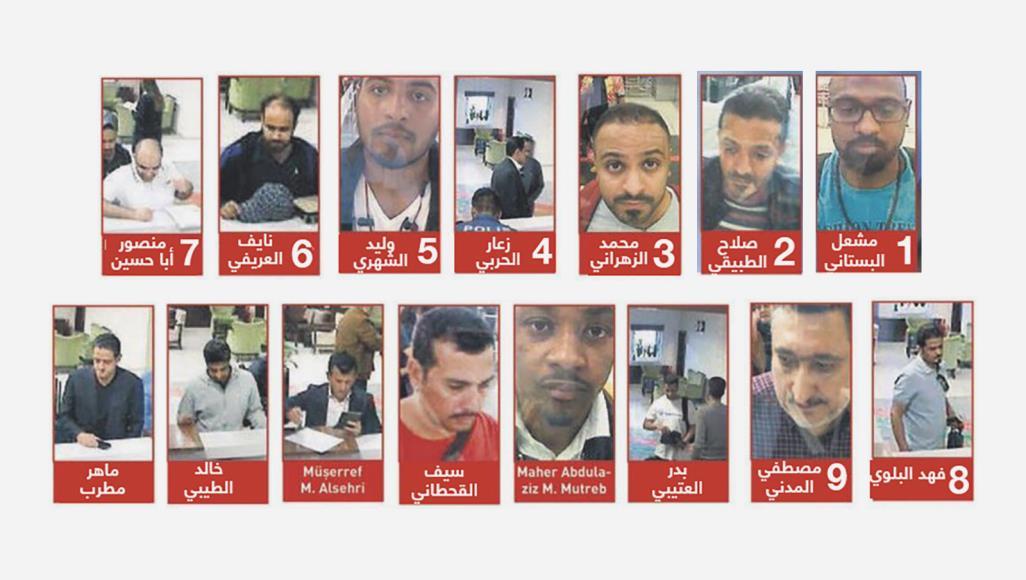 مظنونان پرونده ناپدید شدن خاشقجی معرفی شدند  تصاویر