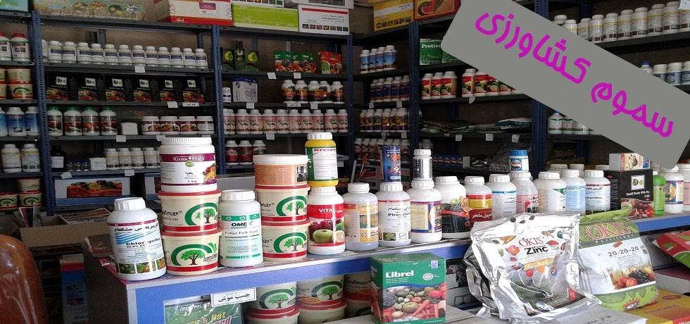 ۱۴ فروشگاه متخلف سموم کشاورزی در جیرفت پلمپ شد