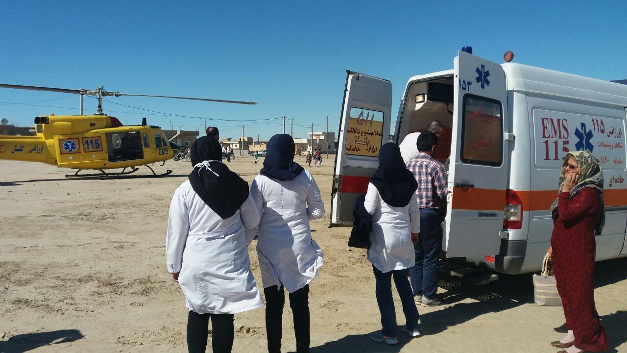 نجات جان مادر ۱۸ ساله در ماموریت موفق آمیز  بالگرد امداد هوایی 115 گلستان
