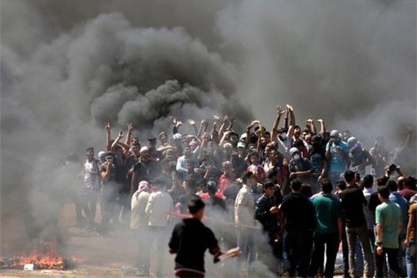 حمله نظامیان رژیم صهیونیستی به شرکت کنندگان در راهپیمایی برزگ بازگشت
