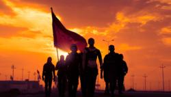 ثبت لحظات خاص زیر پرچم امام حسین علیه السلام +تصاویر