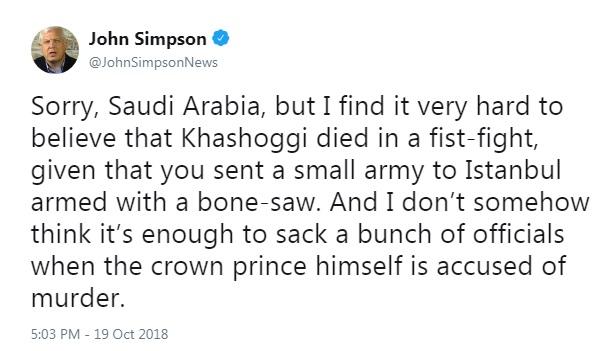 واکنش سردبیر کهنهکار بیبیسی به داستان ساختگی عربستان