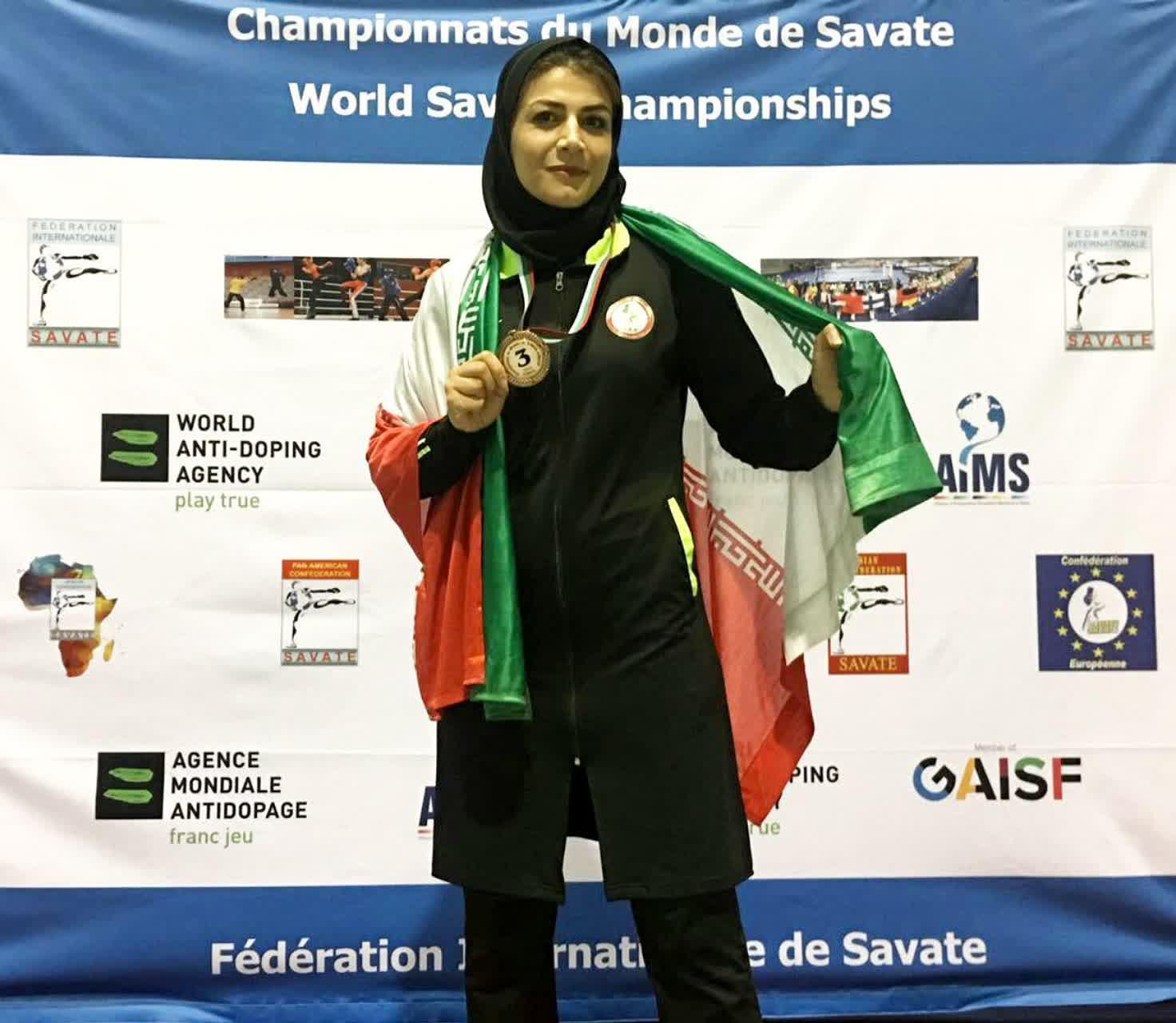 ساواته کار کرمانی بر سکوی سوم مسابقات جهانی بلغارستان