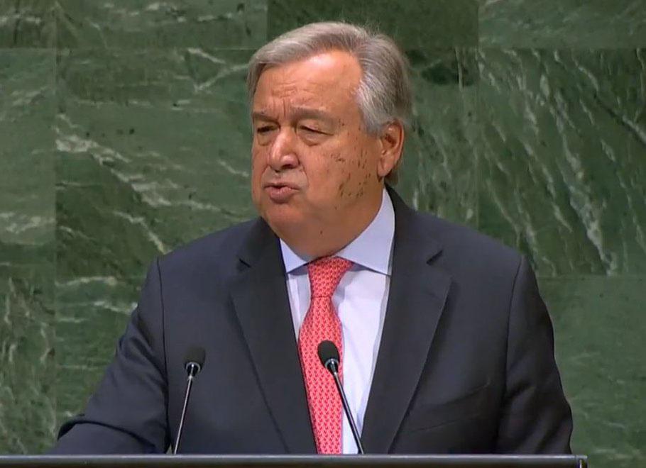 در سخنانی در مراسم آغاز هفتاد و سومین نشست مجمع عمومی سازمان ملل گوترش: از پایان دادن به جنگ در یمن و سوریه عاجز ماندهایم/ رقابت تسلیحاتی در جهان به راه افتاده است