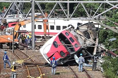 خروج قطار مسافربری از ریل در تایوان