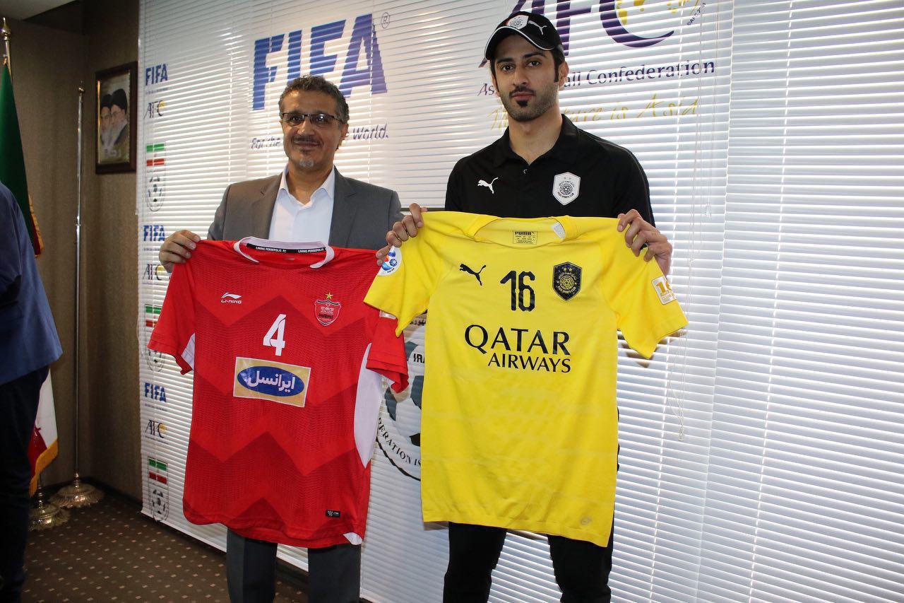 رونمایی از پیراهن پرسپولیس و السد در بازی برگشت+عکس