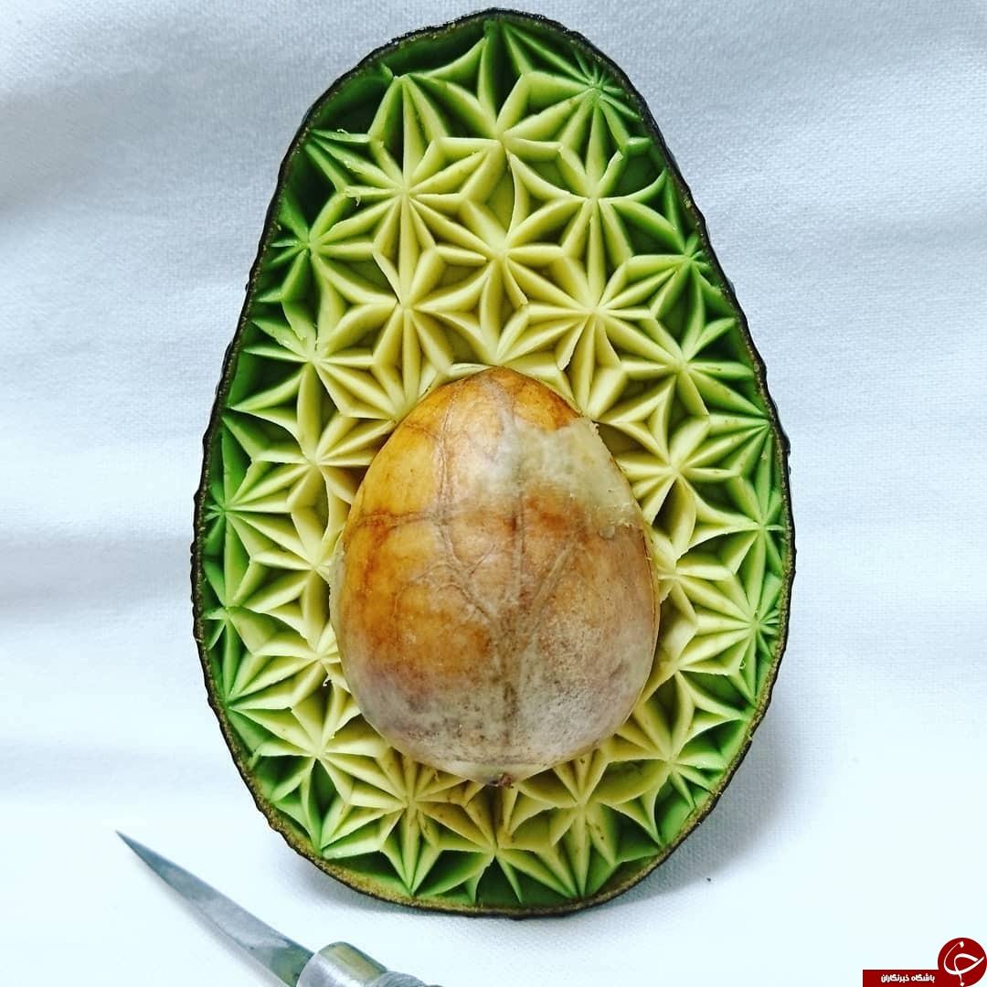 هنر سرآشپز چشم بادامی در میوه آرایی+تصاویر