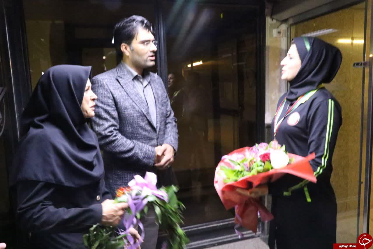 استقبال از دارنده مدال برنز مسابقات جهانی بلغارستان در کرمان + تصاویر