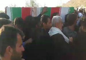 شهروندخبرنگار خوزستان؛ فیلمی از مراسم تشییع شهید حادثه تروریستی اهواز در گتوند