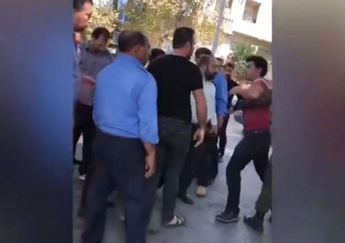 درگیری مأموران سد معبر شهرداری گرگان با یک دستفروش